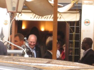 Dick Cheney after having lunch at a Roman Restaurant.  September 7, 2008
